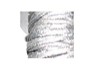 Grafīta pavedieni, kas ietīti ar stiepļu tīklu